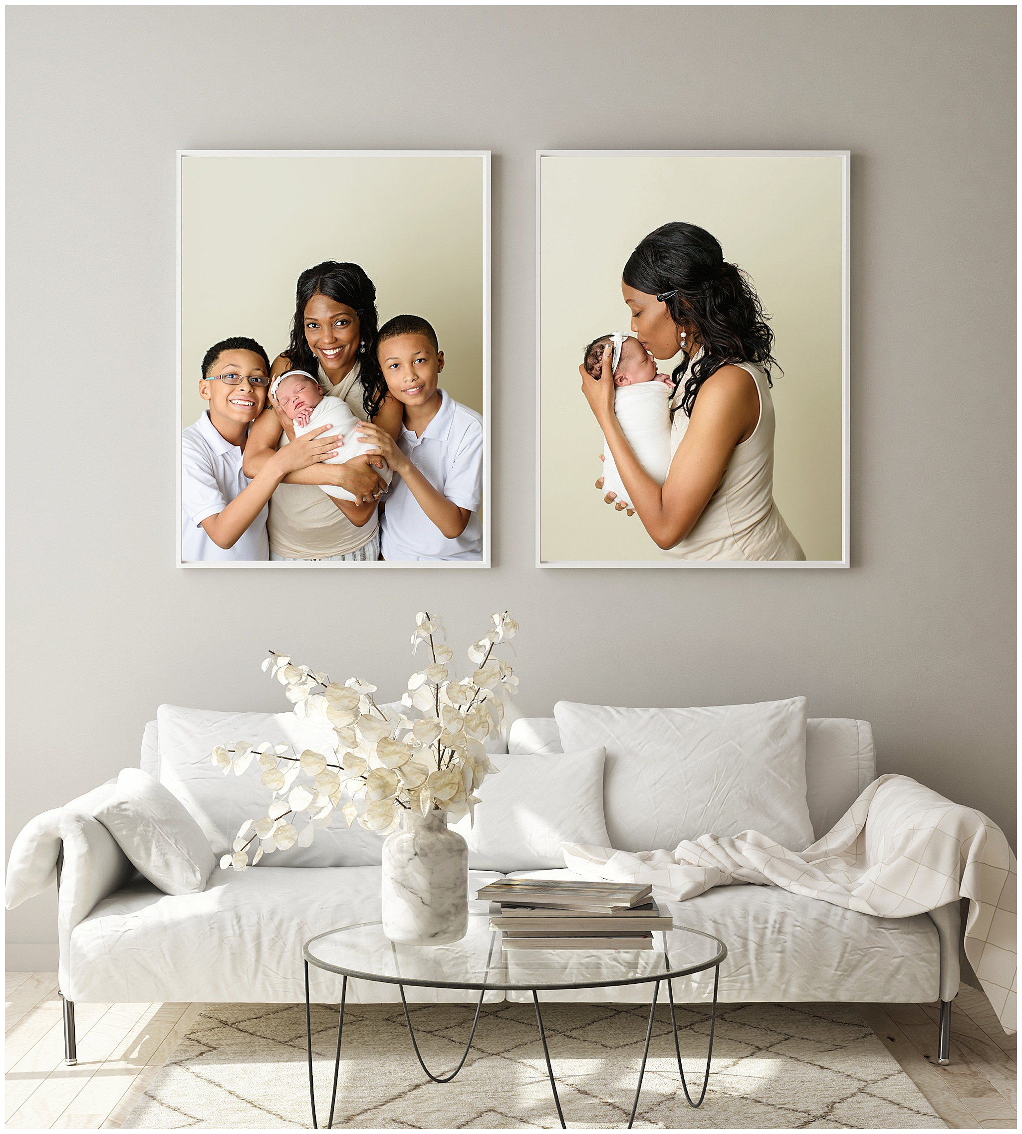 wall art display over couch ordering appointment